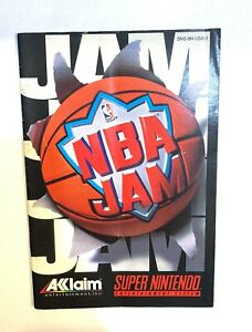 NBA Jam Super Nintendo SNES Instruction Manual Booklet only! No GAME!