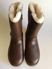 87915efa34c UGG Breida Black Waterproof Leather Fur Buckle Short BOOTS Size 7 ...