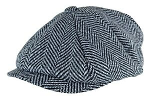 Homme-Hiver-Anglaise-Vintage-Traditionnelle-Laine-Casquette-Plate-Gavroche