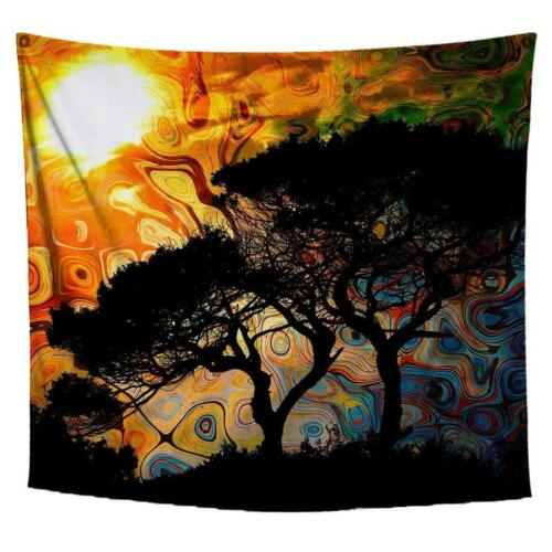 Psychedelic Tapestry Wall Hanging Tree Tapestry Colorful Wall Art Landscape Imag