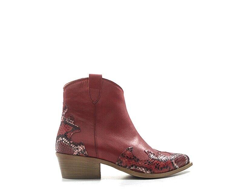 zapatos REBECCA VAN DIK Femme rojo Cuir naturel CX14-RB