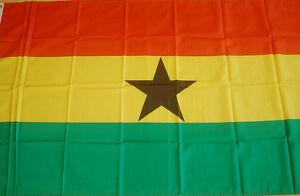 Riesen große XXL Ghana  Afrika  Flagge Fahne Hißflagge Hissfahne 250 x 150 cm