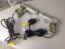 Ps  2X Bundle Sega Saturn Gun Controller X-Time Guncon Gun Con Playstation Ss