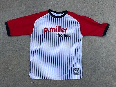 Aggressiv P.miller Herren Vintage Höschen 06 Gestreift Baseballhemd Trikot | Xl