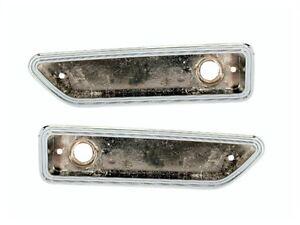 Pair 1970-71 Dodge Challenger Front Marker Lamp Bezels