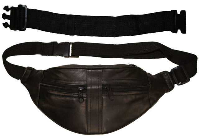 04f35f40493 Small Leather Fanny Pack Mens Waist Belt Bag Womens Purse Hip Pouch Travel  EXT