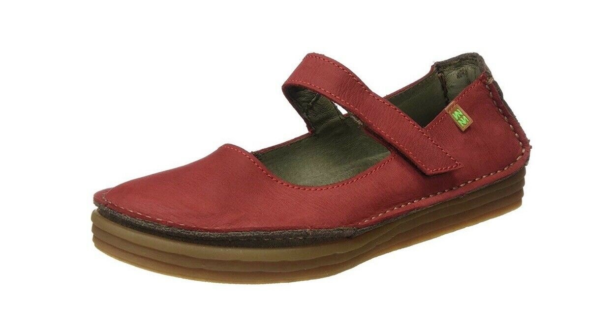 El Naturalista Womens Red Pleasant Rice Field shoes Eu Size 42