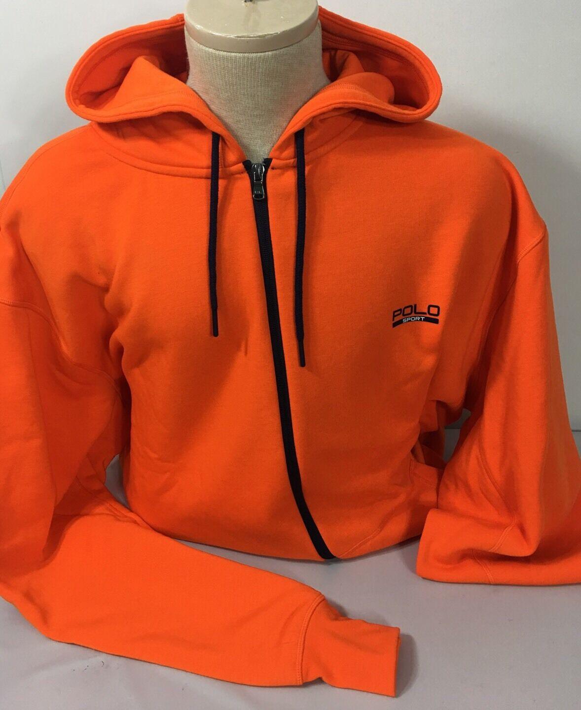 Polo Ralph Lauren Sport Full Zip Hoodie  Herren 1XB Big 1X Orange Blau