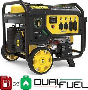 Champion 9,375-W Portable Hybrid Dual Fuel Gas Powered Electric Start Generator