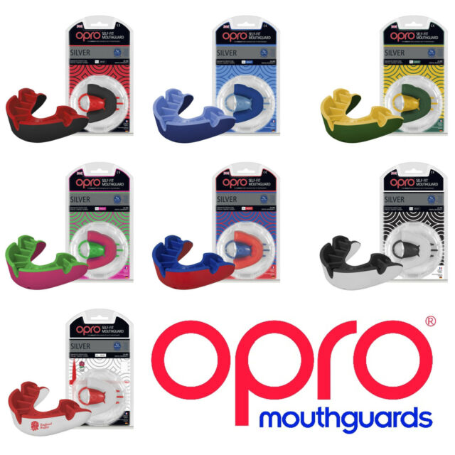 Opro Silver Gen 4 Mouth Guard Red//Blue