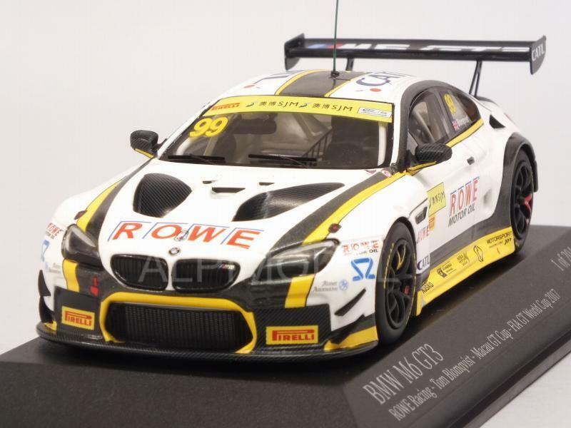 i nuovi marchi outlet online BMW M6 M6 M6 GT3 Rowe Racing Macau FIA GT World Cup 2017 1 43 MINICHAMPS 437172689  design unico