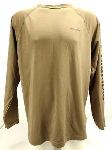 Columbia-Phg-Men-039-s-Long-Sleeve-Shirt-Army-Green-Base-Layer-Omnishade-Size-Large