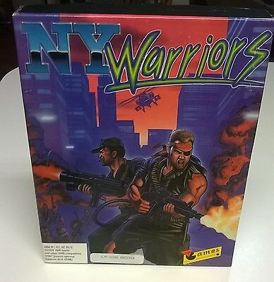 NY Warriors 3.5 Disk by Virgin Games IBM+ Compatible Complete Big Box Guaranteed