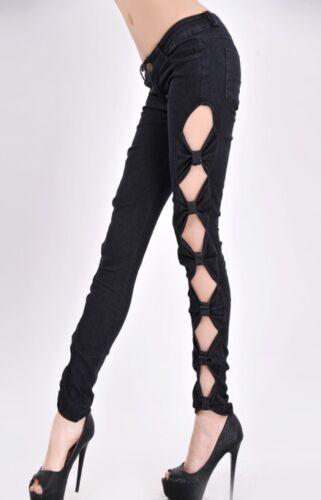 Pantaloni Jeans H91 Donna A Sigaretta Jeggings Aderente Fiocchi Lapis FwqTqx0v4