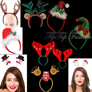 FUNKY-Duende-Navidad-Verde-diadema-con-el-Rojo-Lazo-amp-Santa-BANDA