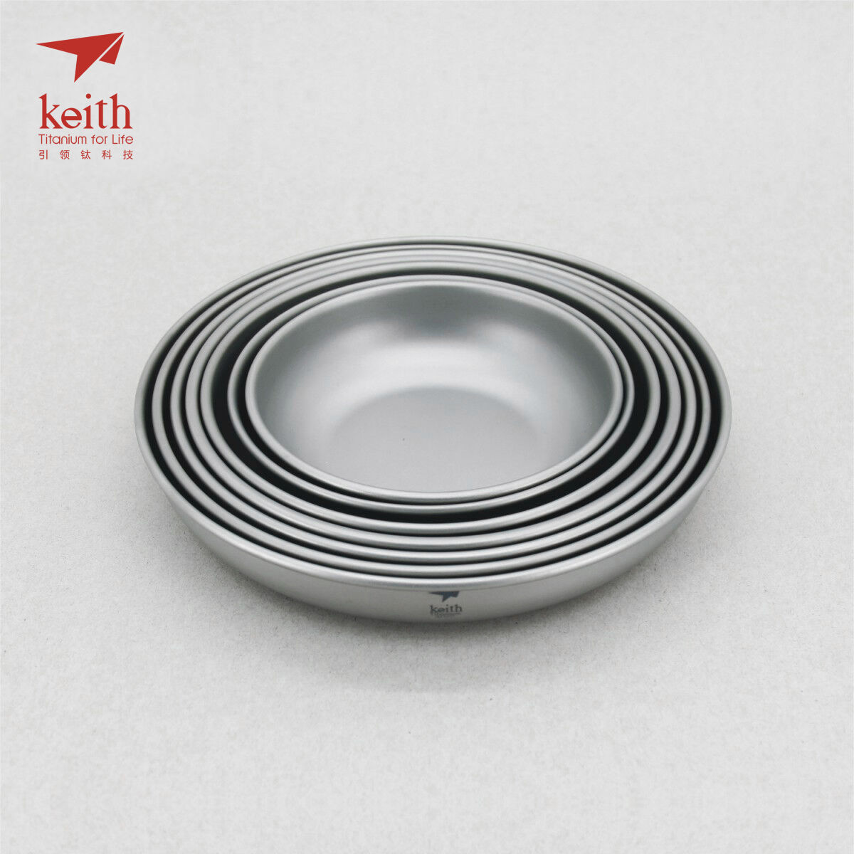 Keith Titanium from Ti5371 7-Piece Plate Set (Shipped from Titanium California, USA) 53493e