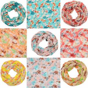 Schal-Halstuch-Blumenmuster-Loopschal-Blumen-mehrfarbig-Tuch-leicht-Behelsmaske