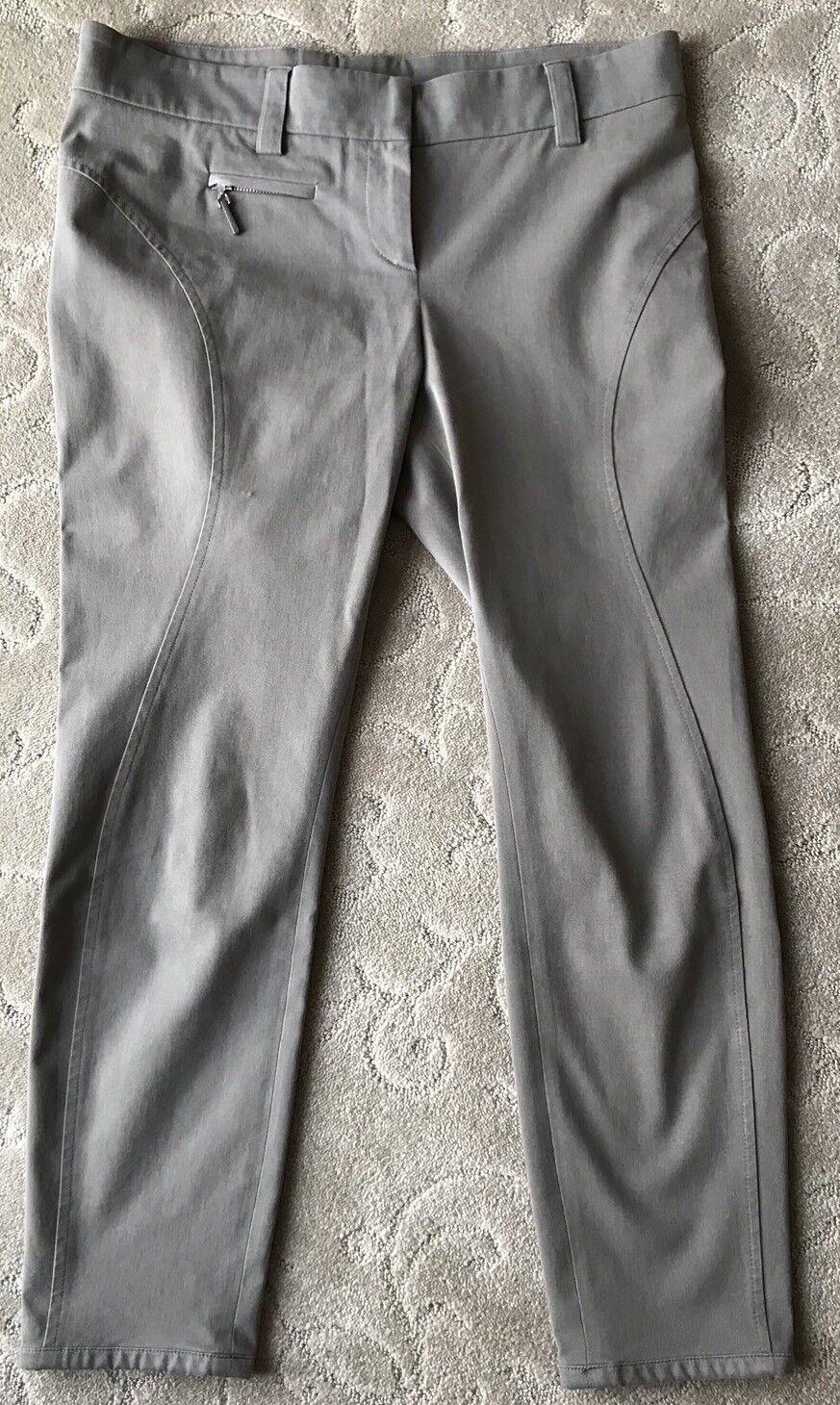 Brunello Cucinelli Taupe Cotton Crop PantsSize 4