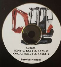 KUBOTA KX41-2 UP TO KX161-2 EXCAVATOR SERVICE MANUAL ON CD *FREE POSTAGE*