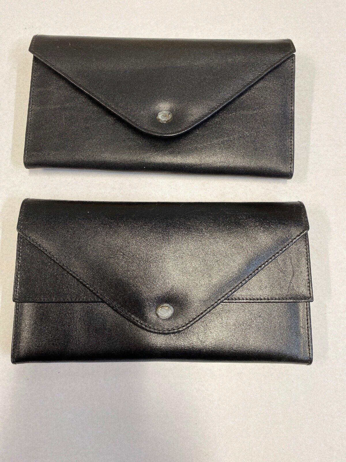 ( 2 ) Vintage Black Leather Wallet from Estate UnCleaned
