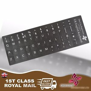English-UK-Replacement-Black-Keyboard-Stickers-amp-Black-Letters-Laptop-Notebook
