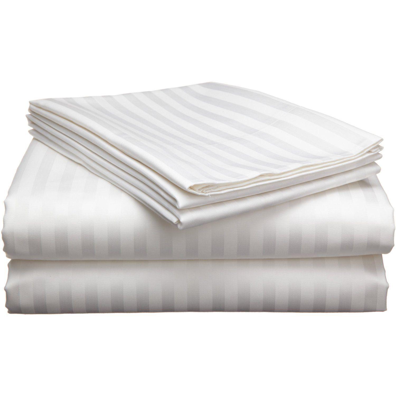 Bed Sheet Set Weiß Stripe RV Camper & BUNK Bed All Größes 1000 Thread Count