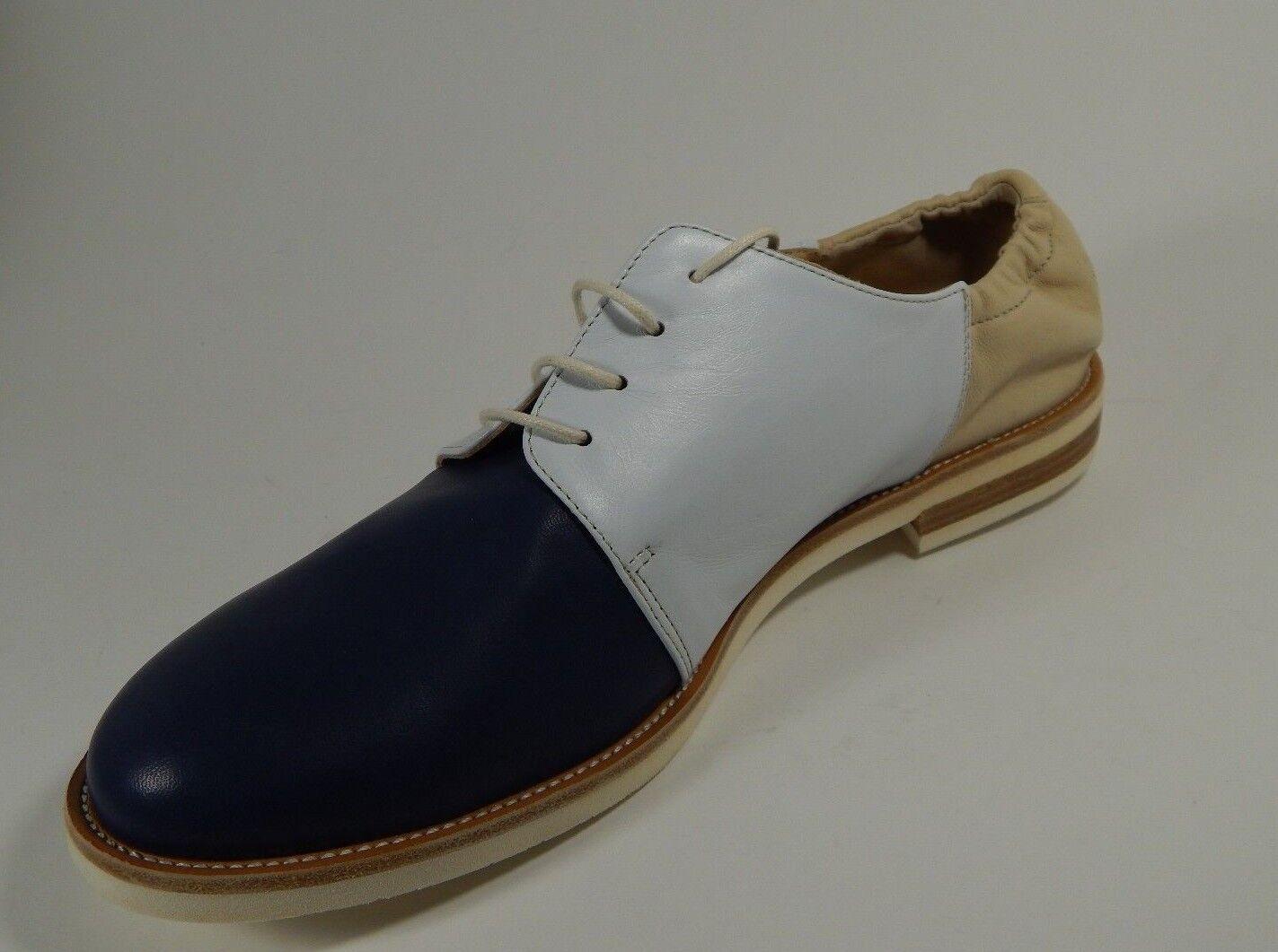 New Amalfi Rangoni TADDEO Derby Leder Lace up Casual Schuhes Leder Derby Blau Weiß Tan 9 M d5ef7d