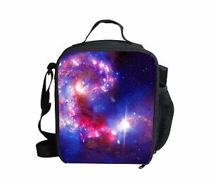 Galaxy Starry Sky Cooler Thermal Waterproof Lunch Bag Box Container Picnic Women