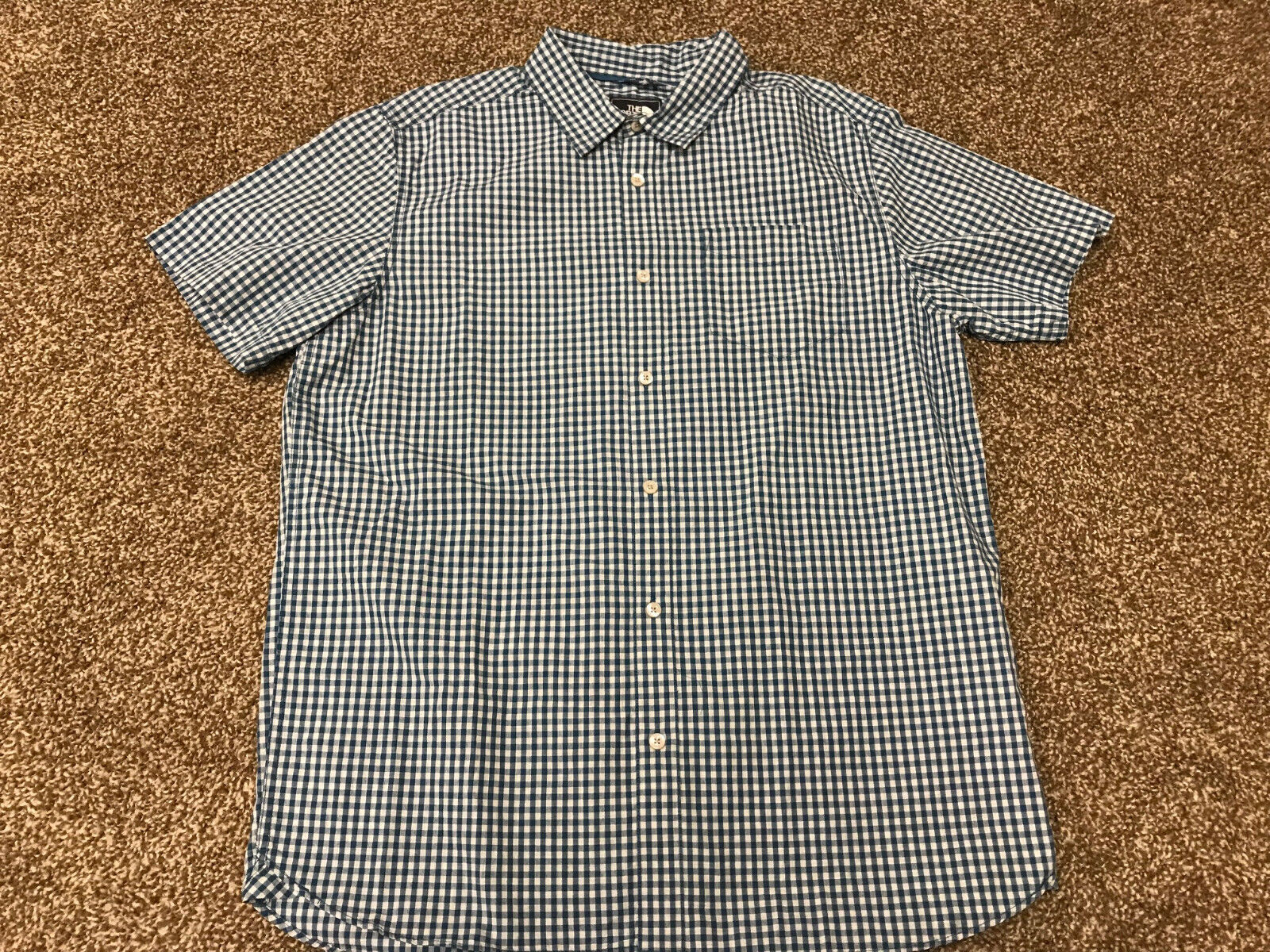 New NWT Men's The North Face Shadow Gingham Short Sleeve Shirt Size Large
