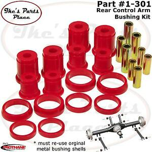 Prothane 13-301-BL Black Rear Upper and Lower Control Arm Bushing Kit