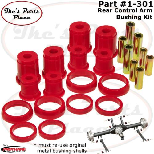 Prothane 1-301 Rear Control Arm Bushing Kit-No Shells-93-98 Grand Cherokee-Poly