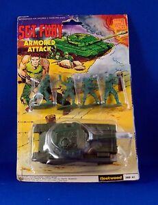 Fleetwood Toys SGT Fury Play Set Nick Fury Marvel 1980 rare Rack Toys