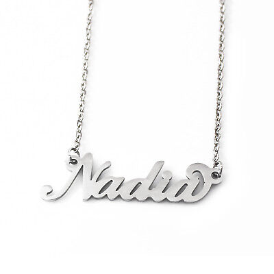 SONIA Silver Tone Name NecklaceChristmas Gifts For Her Anniversary Wedding