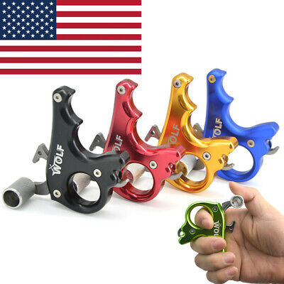 Archery Caliper Release Aids Compound Bow Shooting 3 Finger Grip Trigger