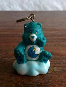CUSTOM-1985-Vintage-Care-Bear-1-5-034-ATTACHABLE-Keychain-BEDTIME-BEAR-Never-Made