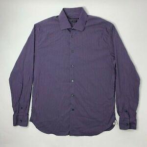 John-Varvatos-Regular-Fit-Mens-16-34-35-Shirt-Button-Front-Long-Sleeve-Purple