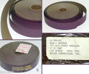 MOYCO-ULTRALAP-LAPPING-FILM-1-micron-um-WCA-010-1-034-x-150ft-1-Paper-Backing