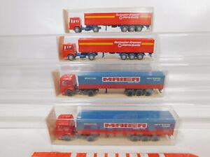 CA248-0-5-4x-Wiking-1-87-H0-517-Sattelzug-LKW-MAN-Maier-Rosbacher-NEUW-OVP