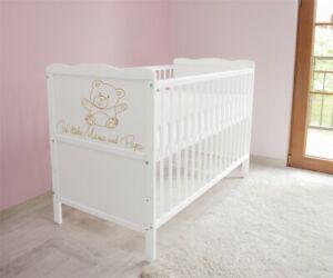 Babybett-Kinderbett-Juniorbett-120x60-Weiss-3x1-inkl-Matratze-n