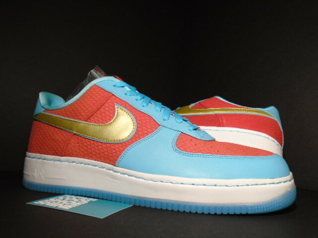Nike Air Force 1 Low SUPREME I/O YOTD NRG YEAR OF THE DRAGON BLUE RED GOLD DS 14 Casual wild