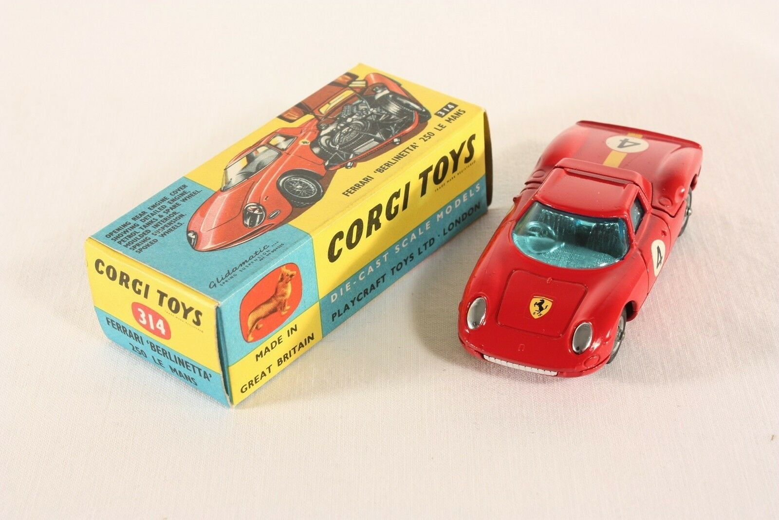 "Corgi Toys 314, Ferrari ""Berlinetta"" 250 Le Mans, Mint in Box      ab766"