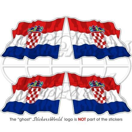 CROATIA Croatian Flying Flag Hrvatska 5cm Vinyl Sticker