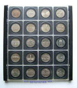 DDR-5-Mark-Sammlung-20-versch-1969-1990-in-DDR-Kassette