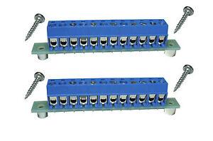 2-St-Verteiler-Stromverteiler-SV-12-mit-Einbauzubehoer-ROHS-konform