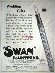 SWAN-039-Fountpen-039-Fountain-Pen-ADVERT-2-Original-Small-1923-Print-AD