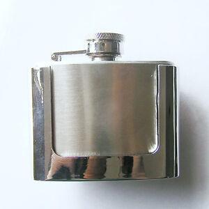 """"""" Flachmann """"  Flask Schnaps-Flasche Gürtelschnalle Notration Belt Buckle * 583"""