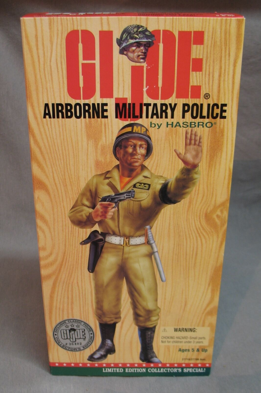 "1996 GI Joe 12"" Airborne Military Police Action Figure - African American"