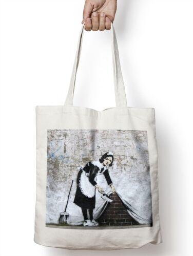Banksy Chalk Farm Maid Tote Shopper Bag For Life Shopping Graffiti Urban Art E40