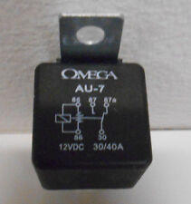 Lot of 4 Omega AU-7 SPDT Single Pole Double Throw 30 / 40 AMP 12VDC Relays