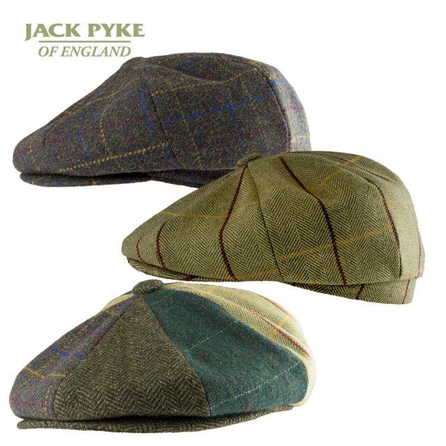 Tweed Patchwork Quality Flat Cap Wool Blend Herringbone Check 2 Colours 4 Sizes